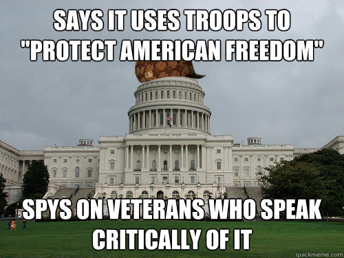 Says it uses troops to