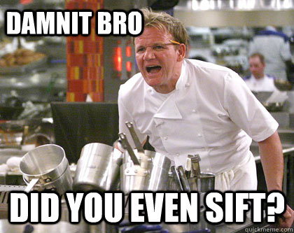 Did you even sift? Damnit Bro  Ramsay Gordon Yelling