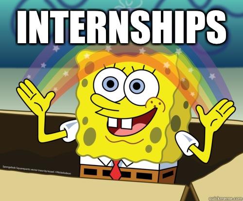 Internships  - Internships   Spongebob rainbow