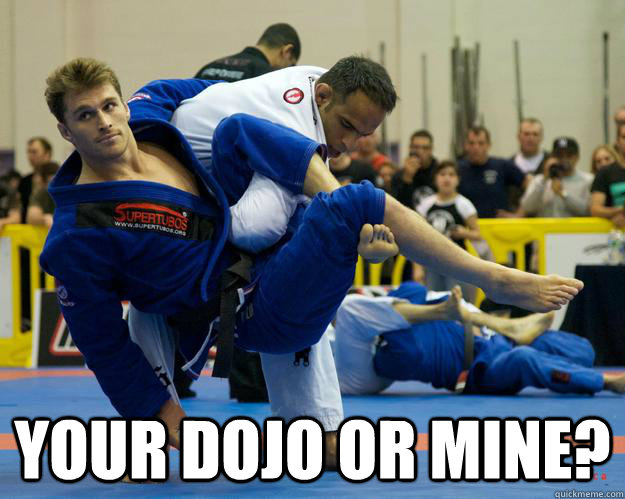 Your dojo or mine? -  Your dojo or mine?  Ridiculously Photogenic Jiu Jitsu Guy