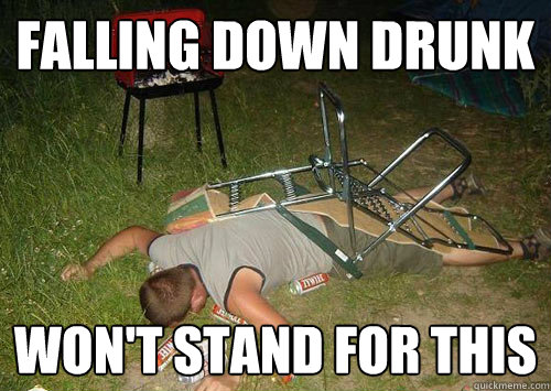 Falling Down Drunk Wont Stand For This Face Down Drunk Guy