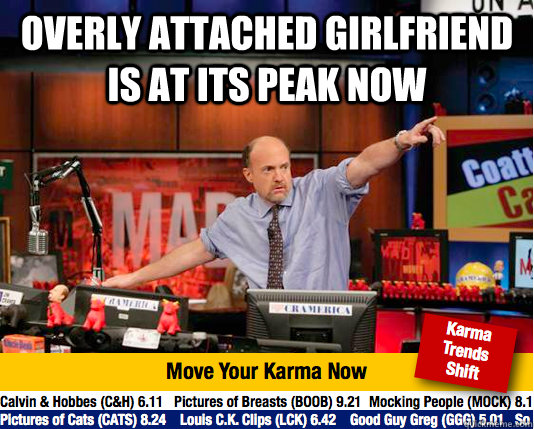overly attached girlfriend is at its peak now   Mad Karma with Jim Cramer