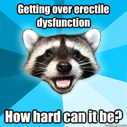 Getting over erectile dysfunction How hard can it be?  - Getting over erectile dysfunction How hard can it be?   Lame Pun Coon