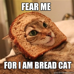 FEAR ME FOR I AM BREAD CAT