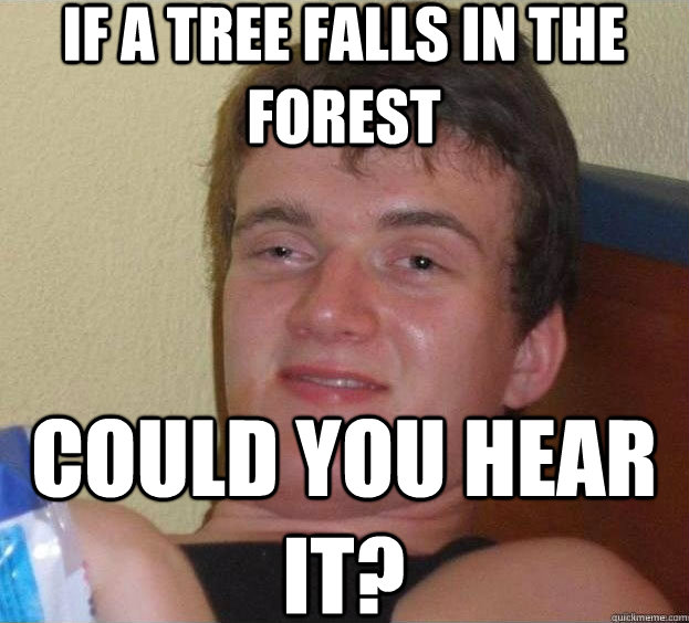 If a gay falls in the forest
