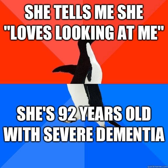 She tells me she