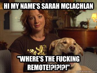Hi my name's Sarah Mclachlan