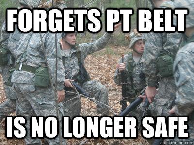 Forgets pt belt Is no longer safe