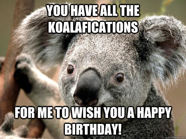 Резултат со слика за birthday memes koala