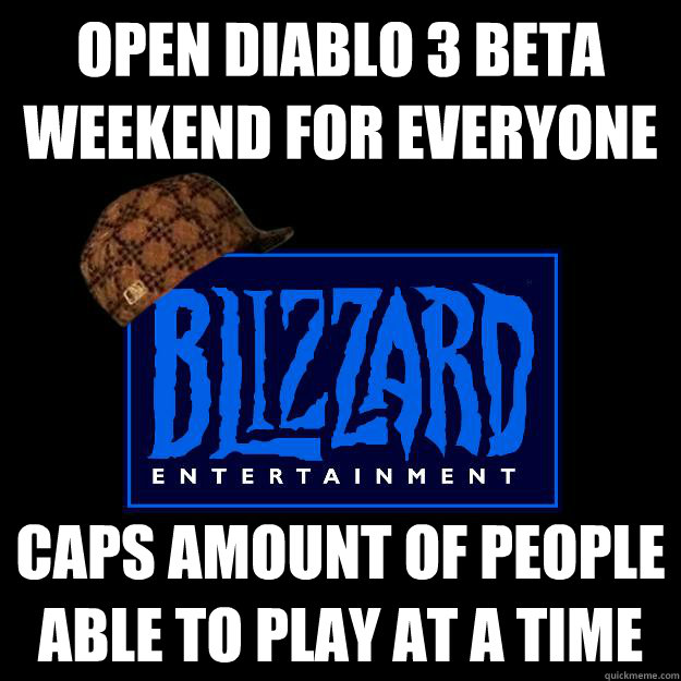 open diablo 3 beta weekend for everyone caps amount of people able to play at a time