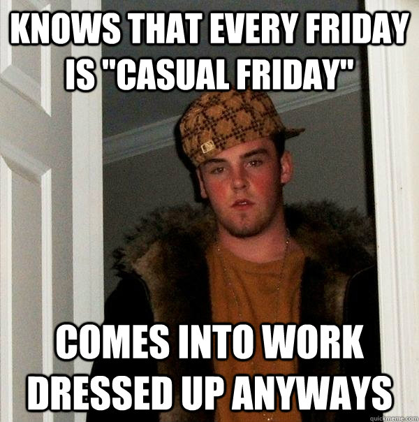 Knows that every friday is