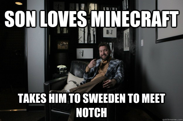 Son Loves Minecraft Takes him to sweeden to meet Notch