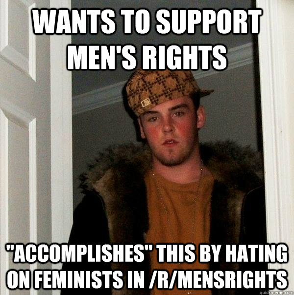 wants to support men's rights