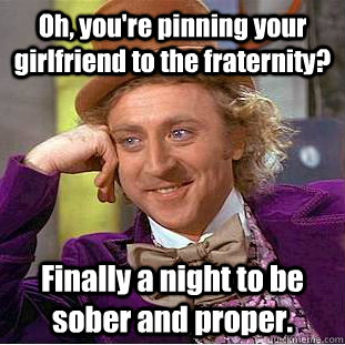 Fraternity pinning