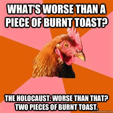 anti joke chicken holocaust