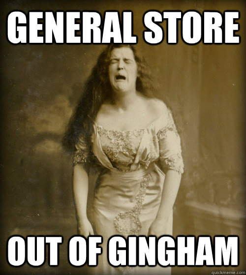 general store out of gingham - general store out of gingham  1890s Problems