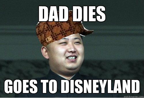 Dad dies goes to disneyland