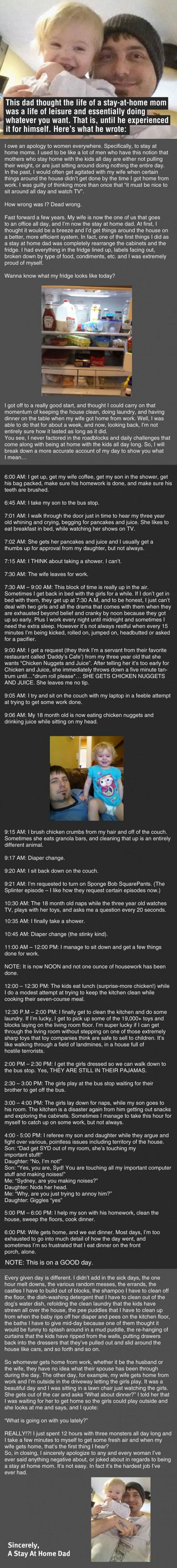 Guy thinks his wife does nothing all day, then this happens... -   Misc