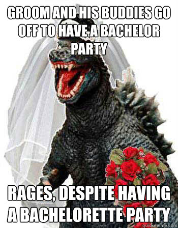 groom and his buddies go off to have a bachelor party rages, despite having a bachelorette party