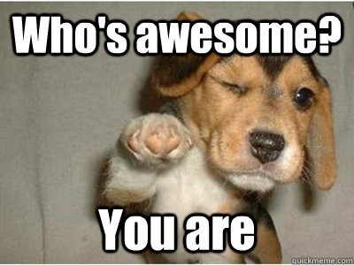 Who's awesome? You are