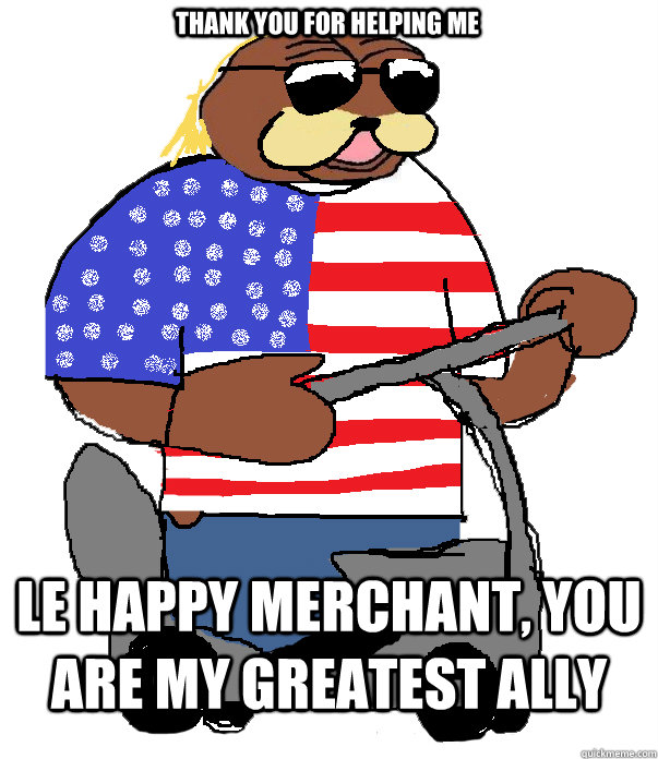THANK YOU FOR HELPING ME LE HAPPY MERCHANT, YOU ARE MY GREATEST ALLY