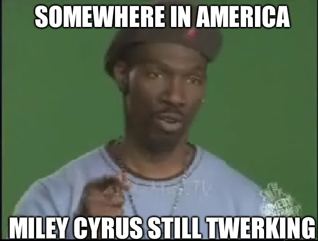Somewhere in America  Miley Cyrus still Twerking