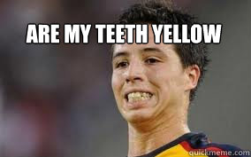 are my teeth yellow - are my teeth yellow  nasri ugly