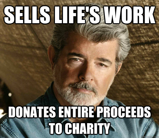 Sells life's work Donates entire proceeds to charity
