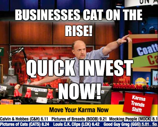 Businesses cat on the rise! Quick invest now! - Businesses cat on the rise! Quick invest now!  Mad Karma with Jim Cramer