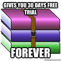 gives you 30 days free trial forever