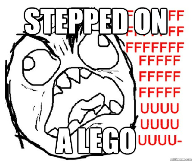 STEPPED ON A LEGO - STEPPED ON A LEGO  Rage Guy