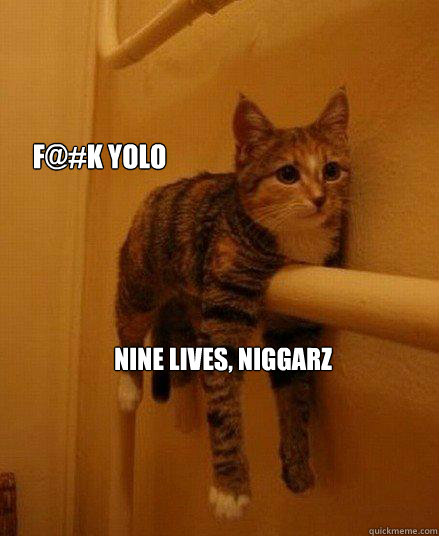 F@#k yolo nine lives, niggarz - F@#k yolo nine lives, niggarz  Monorail Cat