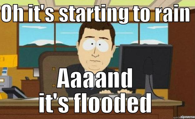 OH IT'S STARTING TO RAIN  AAAAND IT'S FLOODED aaaand its gone