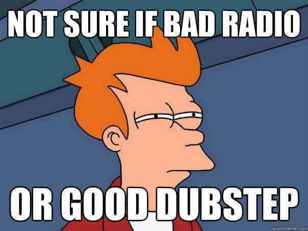 not sure if bad radio or good dubstep - not sure if bad radio or good dubstep  Futurama Fry