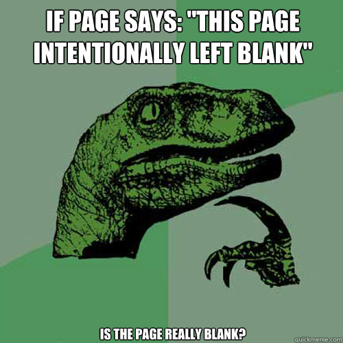 If page says: