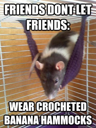 c6ecacfb2bb9659aa076640f157eaa620787a33179938f596e0e4ec82804d245 friends dont let friends wear crocheted banana hammocks hammock