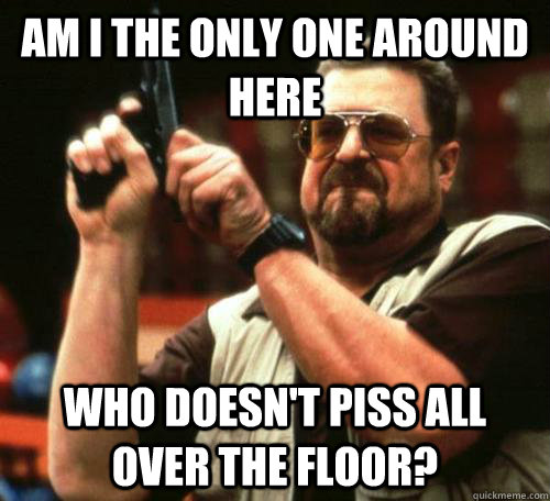 AM I THE ONLY ONE AROUND HERE Who doesn't piss all over the floor? - AM I THE ONLY ONE AROUND HERE Who doesn't piss all over the floor?  Public Toilets