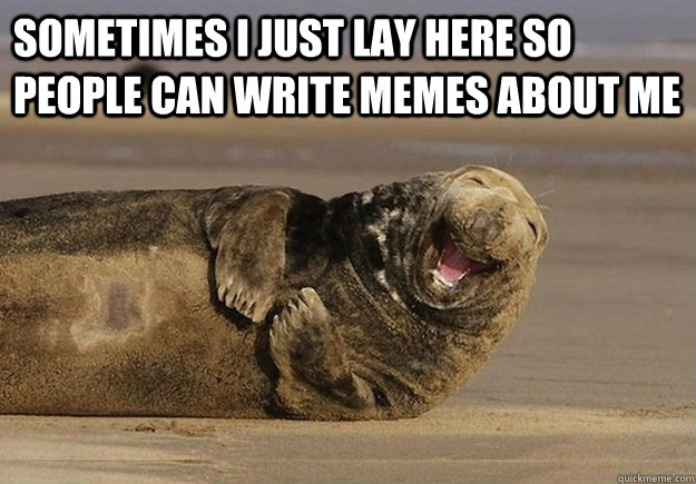 Sometimes i just lay here so people can write memes about me  - Sometimes i just lay here so people can write memes about me   Sea Lion Brian