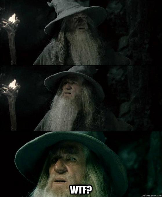 wtf? -  wtf?  Confused Gandalf