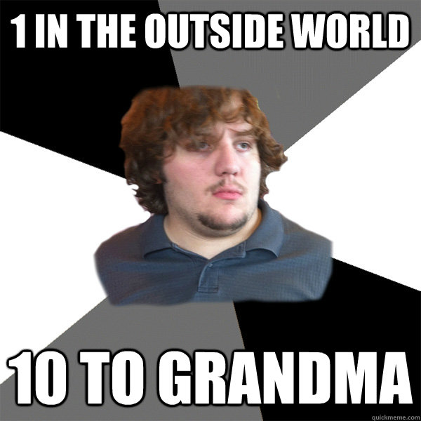 1 in the outside world 10 to grandma - 1 in the outside world 10 to grandma  Family Tech Support Guy