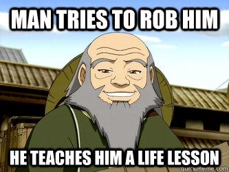 Man tries to rob him  he teaches him a life Lesson