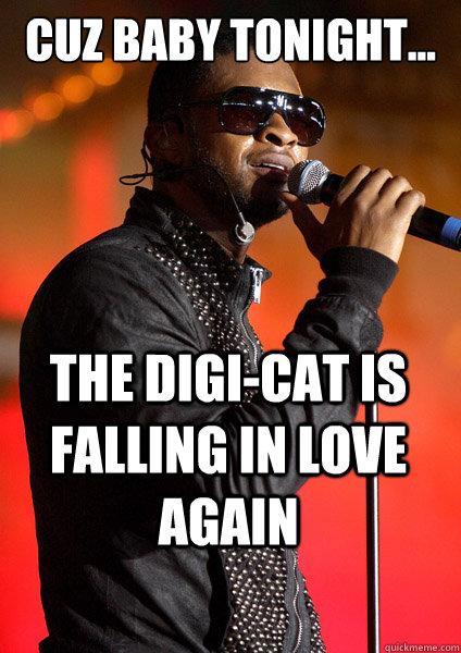 Cuz Baby TONIGHT... The Digi-Cat is Falling in Love AGAIN  Usher