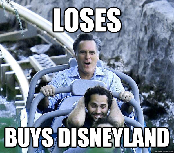 Loses Buys Disneyland - Loses Buys Disneyland  Getting Over It Romney