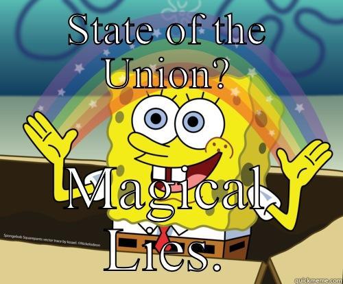 Political SpongeBob - STATE OF THE UNION? MAGICAL LIES. Spongebob rainbow