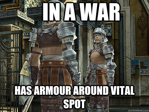 In a war has armour around vital spot - In a war has armour around vital spot  Final Fantasy XII Logic