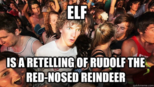 ELf is a retelling of Rudolf the red-nosed reindeer - ELf is a retelling of Rudolf the red-nosed reindeer  Sudden Clarity Clarence