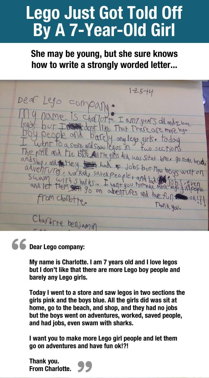 Just Epic. Lego Company Gets Told Off By A Little Girl...   -   Misc