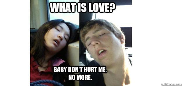 c82a76d9b984e3b29888ceb5a196bbbfbc48cf6bf90557bbcc78584ebf367381 what is love? baby don't hurt me, no more misc quickmeme