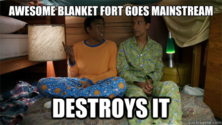 Awesome blanket fort goes mainstream Destroys it - Awesome blanket fort goes mainstream Destroys it  Misc
