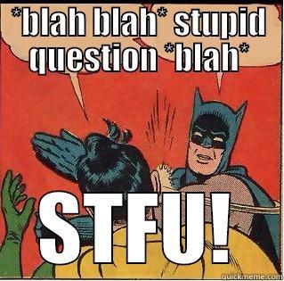 *BLAH BLAH* STUPID QUESTION *BLAH* STFU! Slappin Batman